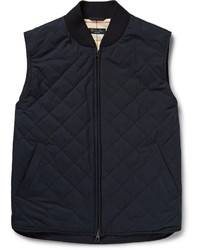 Мужская темно-синяя стеганая куртка без рукавов от Loro Piana