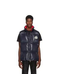 Мужская темно-синяя стеганая куртка без рукавов от Moncler Genius