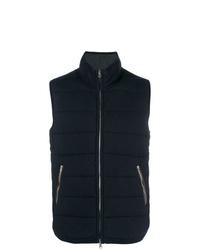 Мужская темно-синяя стеганая куртка без рукавов от N.Peal