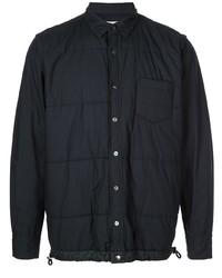 Мужская темно-синяя стеганая куртка-рубашка от Sacai
