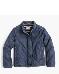 Темно-синяя стеганая куртка