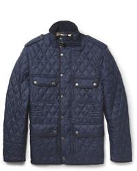 Темно-синяя стеганая полевая куртка
