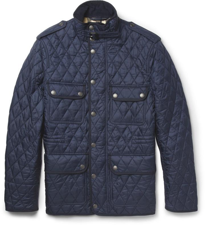 Темно-синяя стеганая полевая куртка от Burberry   Где купить и с чем ... a910db1661f