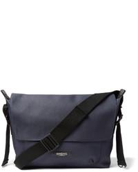 Мужская темно-синяя сумка почтальона из плотной ткани