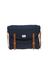 Мужская темно-синяя сумка почтальона из плотной ткани от SANDQVIST