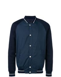 Темно-синяя университетская куртка