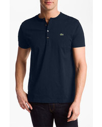 темно синяя футболка на пуговицах original 2597577