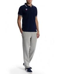 Мужская темно-синяя футболка-поло с принтом от Atributika & Club™