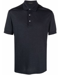 Мужская темно-синяя футболка-поло от Ermenegildo Zegna