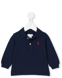 Детская темно-синяя футболка-поло для мальчику от Ralph Lauren