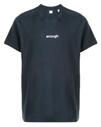 Мужская темно-синяя футболка с круглым вырезом с принтом от Aspesi
