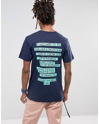 Мужская темно-синяя футболка с круглым вырезом с принтом от Cayler & Sons