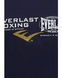 Мужская темно-синяя футболка с круглым вырезом с принтом от Everlast