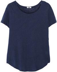 Темно-синяя футболка с круглым вырезом