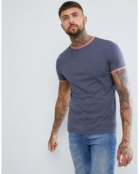Мужская темно-синяя футболка с круглым вырезом от ASOS DESIGN