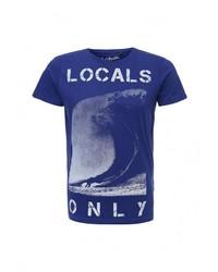 Мужская темно-синяя футболка с круглым вырезом от Best Mountain