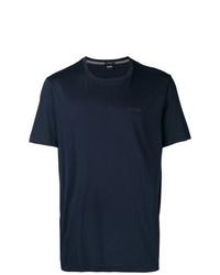 Мужская темно-синяя футболка с круглым вырезом от BOSS HUGO BOSS