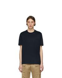 Мужская темно-синяя футболка с круглым вырезом от Brioni