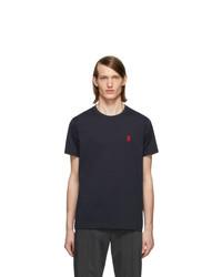 Мужская темно-синяя футболка с круглым вырезом от Burberry