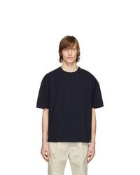 Мужская темно-синяя футболка с круглым вырезом от Deveaux New York