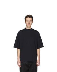 Мужская темно-синяя футболка с круглым вырезом от Jil Sander