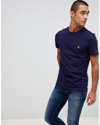 Мужская темно-синяя футболка с круглым вырезом от Lyle & Scott