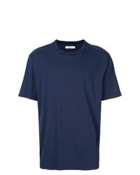 Мужская темно-синяя футболка с круглым вырезом от Mauro Grifoni