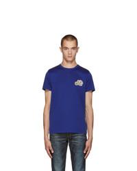 Мужская темно-синяя футболка с круглым вырезом от Moncler