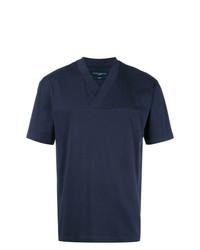 Мужская темно-синяя футболка с круглым вырезом от Natural Selection
