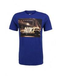 Мужская темно-синяя футболка с круглым вырезом от Nike