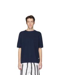 Мужская темно-синяя футболка с круглым вырезом от Our Legacy