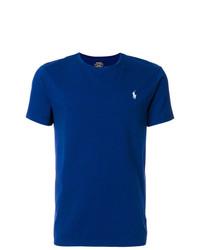 Мужская темно-синяя футболка с круглым вырезом от Polo Ralph Lauren