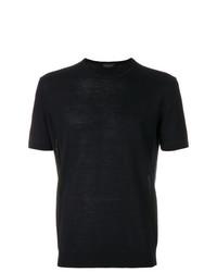 Мужская темно-синяя футболка с круглым вырезом от Roberto Collina