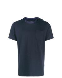 Мужская темно-синяя футболка с круглым вырезом от Sacai
