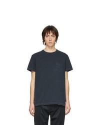 Мужская темно-синяя футболка с круглым вырезом от Schnaydermans