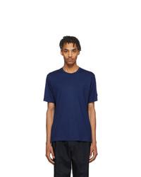 Мужская темно-синяя футболка с круглым вырезом от Z Zegna