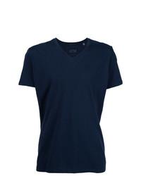 Мужская темно-синяя футболка с v-образным вырезом от ATM Anthony Thomas Melillo