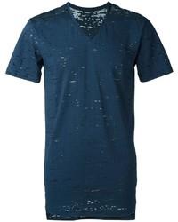 Мужская темно-синяя футболка с v-образным вырезом от Diesel