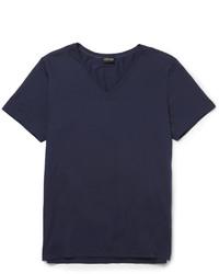 Мужская темно-синяя футболка с v-образным вырезом от Hanro