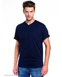 Мужская темно-синяя футболка с v-образным вырезом от Torro