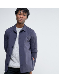 Темно-синяя хлопковая куртка-рубашка