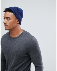 Мужская темно-синяя шапка от ASOS DESIGN