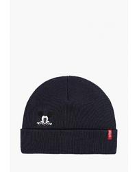 Мужская темно-синяя шапка от Levi's