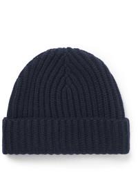 Мужская темно-синяя шапка от Loro Piana