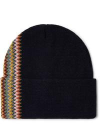 Мужская темно-синяя шапка от Missoni