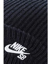 Мужская темно-синяя шапка от Nike