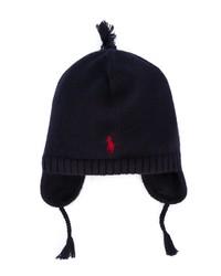 Детская темно-синяя шапка для мальчику от Ralph Lauren