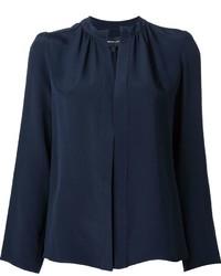 Женская темно-синяя шелковая рубашка от Derek Lam