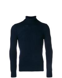 Мужская темно-синяя шерстяная водолазка от La Fileria For D'aniello