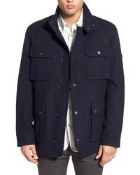 Темно-синяя шерстяная полевая куртка